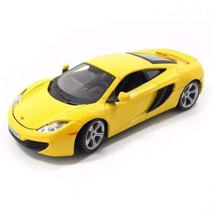 Коллекционная машинка Bburago McLaren 12C Желтый металлик, 1:24