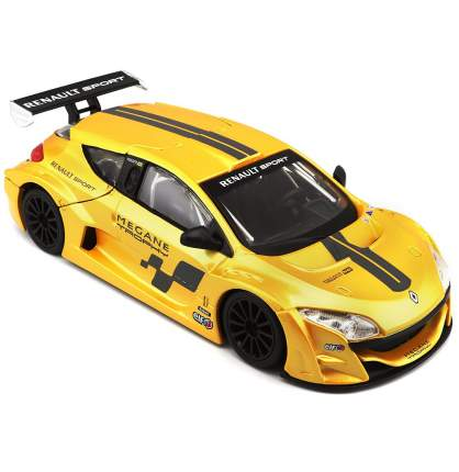 Коллекционная машинка Bburago Renault Megane Trophy желтый ралли, 1:24