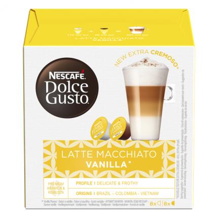 NESCAFÉ Dolce Gusto Латте Макиато со вкусом ванили, кофе в капсулах, 16 капсул