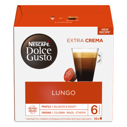 NESCAFÉ Dolce Gusto Лунго, кофе в капсулах, 16 капсул