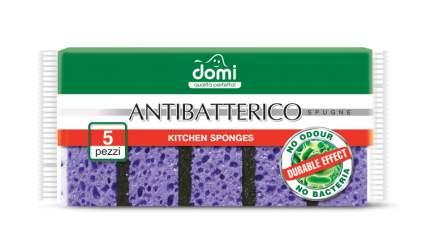Губки кухонные антибактериальные Antibatterico 5шт DOMI