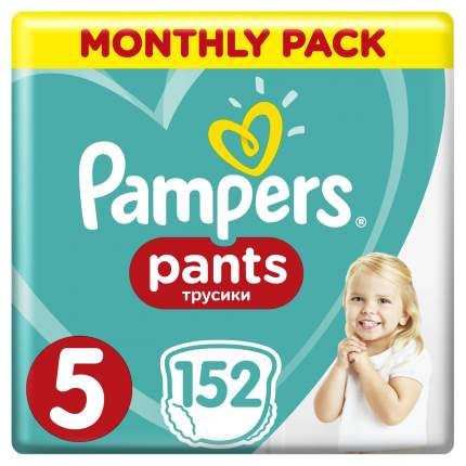 Трусики Pampers Pants 12-17 кг, размер 5, 152 шт.