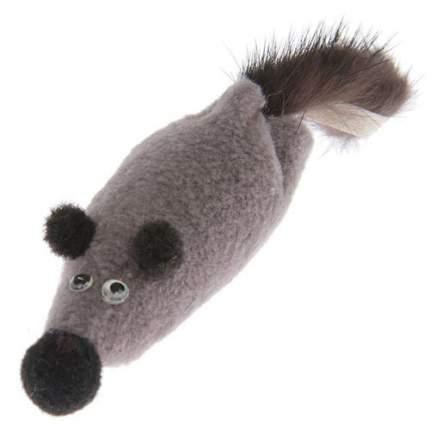 Мягкая игрушка для кошек Gosi, Норка, серый, 6 см