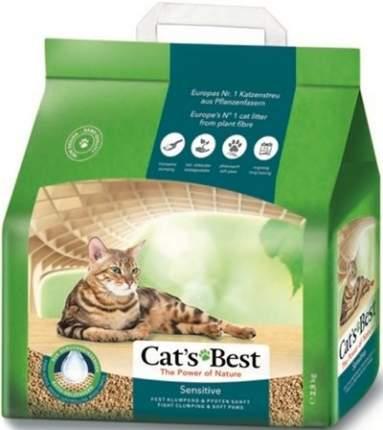 Наполнитель для кошачьего туалета CAT'S BEST Sensitive, древесный, комкующийся, 8л, 2,9кг