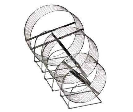 Беговое колесо для грызунов Дарэлл D350 с подставкой, металл, сетка, диаметр 35 см