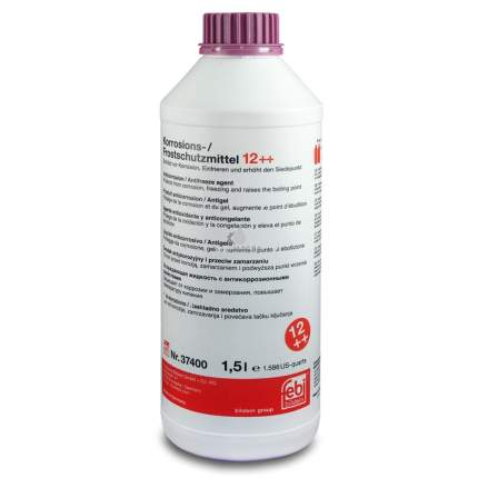 Антифриз фиолетовый 1.5l концентрат 1:1 -40°c g12 plus plus смешивается с красным