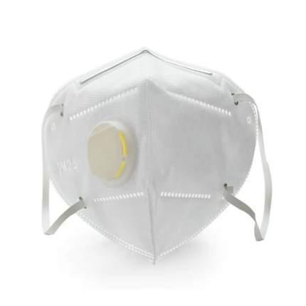 Маска гигиеническая с клапаном Nuobi Clean Air V2 белая 10 шт.