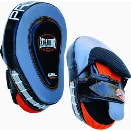 Лапы боксерские Excalibur 828/02 Grey/Black/Orange Буйволиная кожа (пара),