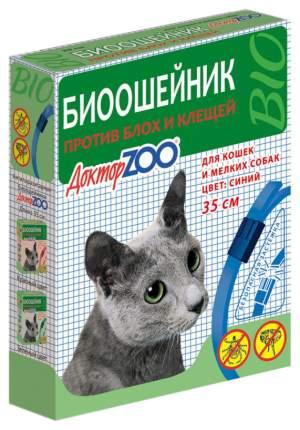 Ошейник для кошек и мелких собак против блох, клещей Доктор ZOO БИО синий, 35 см