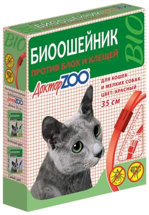 Ошейник для кошек и мелких собак против блох, клещей Доктор ZOO БИО красный, 35 см