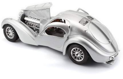 Коллекционная машина Bburago BUGATTI ATLANTIC 1936 SILVER серебристый, 1:24