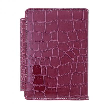 Бизнес-организатор, серия CROCO, кожзам, красный, на магните, размер 15х10,5 см