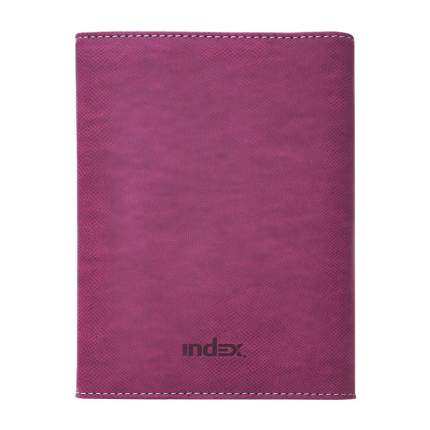 Бизнес-организатор, серия DELI, кожзам, розовый, на магните, размер 18х13 см