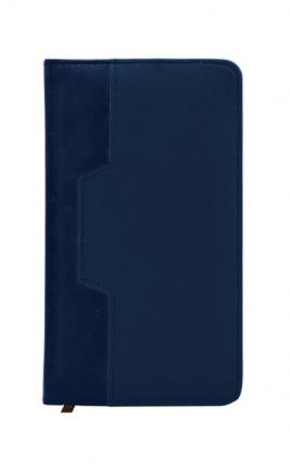 Еженедельник Desert недатиров, ф. А6, кожзам, лин, перф.угла, ляссе, 128с, синий
