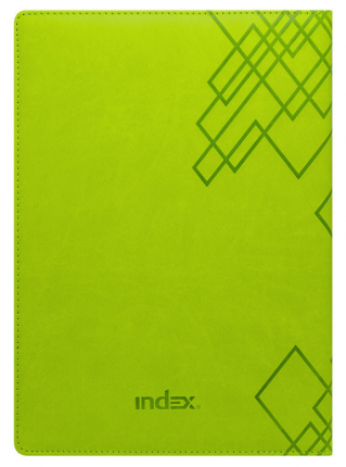 Еженедельник Index Line, кожзам, датиров, 2020, А4, перф. угла, ляссе,  128 стр, салатовый