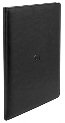 Еженедельник NATURE, кожзам, датир, 2020, А4, перф. угла, тонир., 128 стр, черный