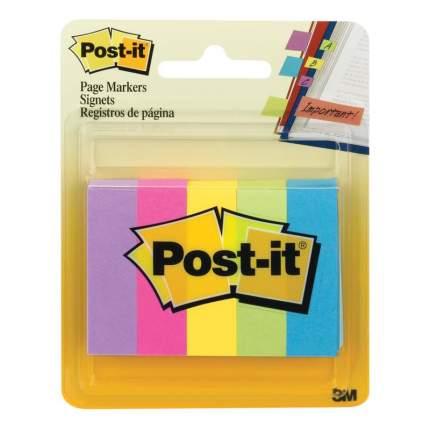 Закладки для страниц POST-IT, 5 цв.*100 шт.,12,7 x 44,5 мм