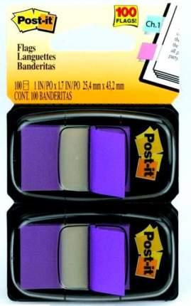 Закладки-ярлычки POST-IT, на полимерн. основе, фиолетовые, 25,4ммx43,2 мм, 100 шт.