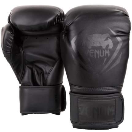 Боксерские перчатки Venum Contender черные 16 унций