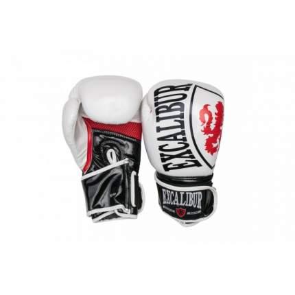 Боксерские перчатки Excalibur 8004-02 белые/черные/красные 10 унций