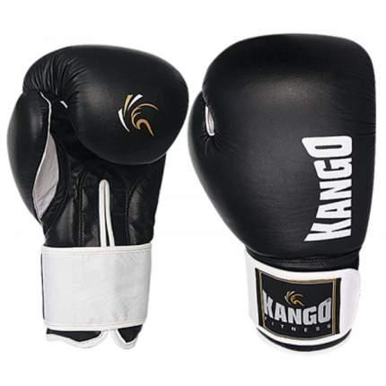 Боксерские перчатки Kango BMK-003 черные/белые 14 унций