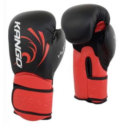 Боксерские перчатки Kango BVK-085 черные/красные 16 унций