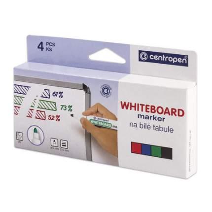 Набор маркеров для доски, круглый наконечник, 4 шт., картонная упаковка с европодвесом