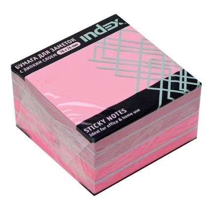 Бумага для заметок с липким слоем, 76х76 мм, розовая пастель, 450 л.