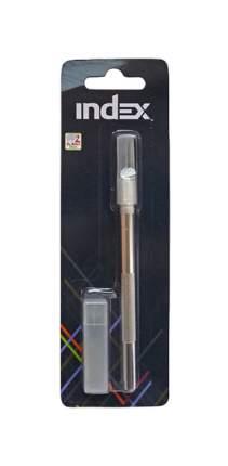 Нож канцелярский (скальпель), 2 дополнительных лезвия в пластиковом тубе