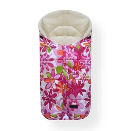 Спальный мешок в коляску Womar Wintry №12, шерсть, 14 Цветки