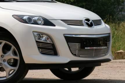 Декоративные элементы противотуманных фар  d10, Mazda CX-7 2010- чёрная комплект 4 штуки