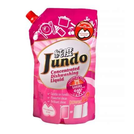 Эко гель Jundo Sakura с гиалуроновой кислотой для мытья посуды 800 мл