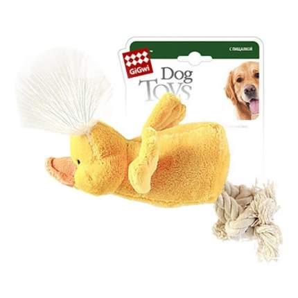 Мягкая игрушка для собак GiGwi Утка с пищалкой, длина 15 см