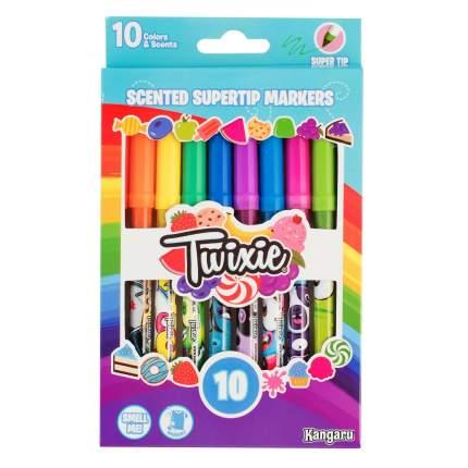 Фломастеры Kangaru toys Ароматизированные тонкие Twixie Super Tip смываемые 10 шт