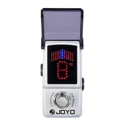 педаль хроматический напольный тюнер Joyo Jf-326 Irontune Chromatic Mini Pedal Tuner