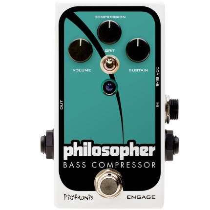 эффект для бас-гитары Pigtronix Pbc Bass Philosopher Compressor