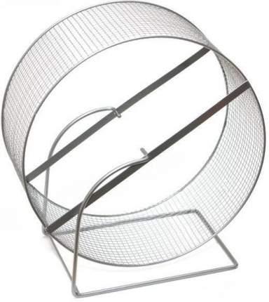 Беговое колесо для грызунов Дарэлл металл, с сеткой на подставке, 30 см