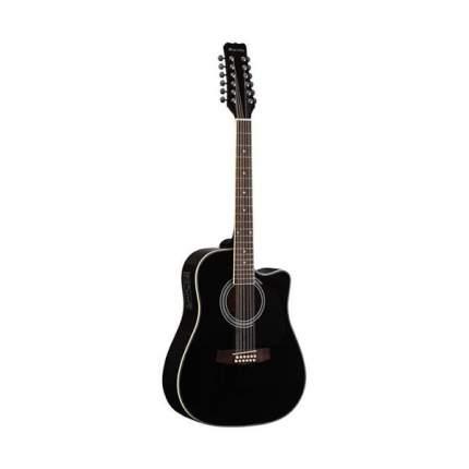 12 струнная акустическая гитара вестерн Fabio Fb12 4010 Bk, цвет черный