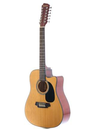 12 струнная акустическая гитара вестерн Fabio Fb12 4010 Nl, цвет натуральный