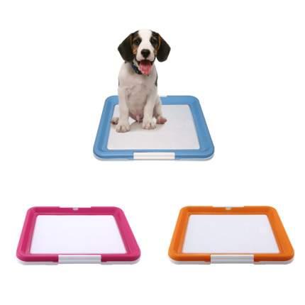 Лоток для собак Triol с креплением под пеленки, средний, в ассортименте, 48x42x4 см