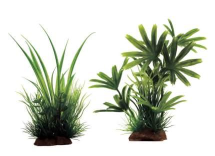 Искусственное растение ArtUniq,Acorus mix 12x10x20см+Bambusa green mix 15 13x5x15см