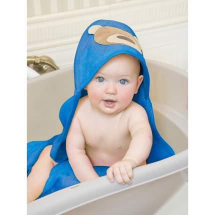 Детское полотенце Золотой Гусь Медвежонок синий 3361 90*90 см