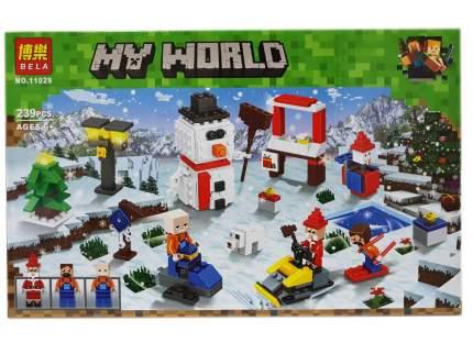 Конструктор Майнкрафт My World «Новый год на озере» 11029 Lari (Bela)