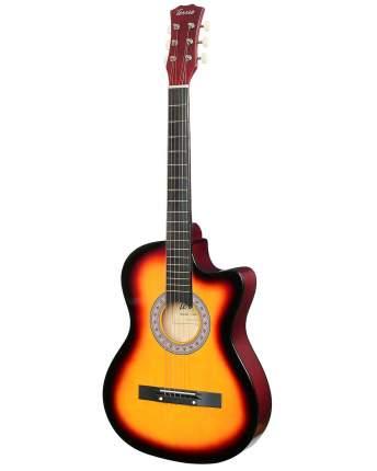 Акустическая фолк гитара Terris Tf-3802с Sb, цвет: санберст