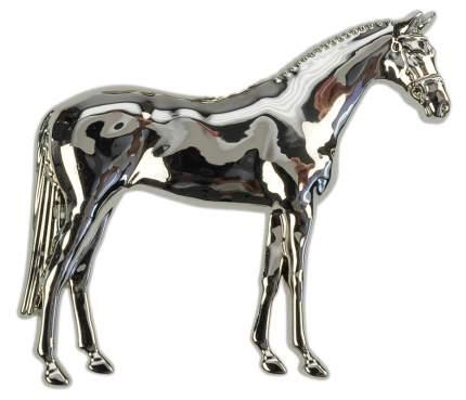 Брошь металлическая HappyROSS 3D Лошадь в коробке 28х25мм