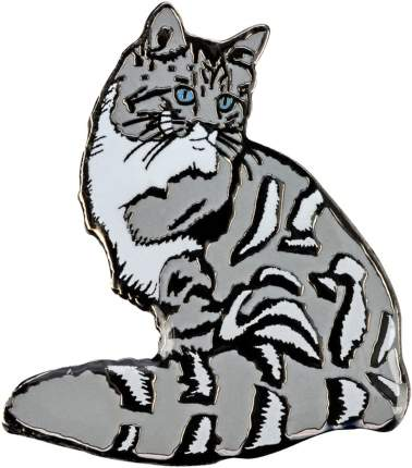 Значок металлический BLUE BUG Мейн кун 23х25мм серый