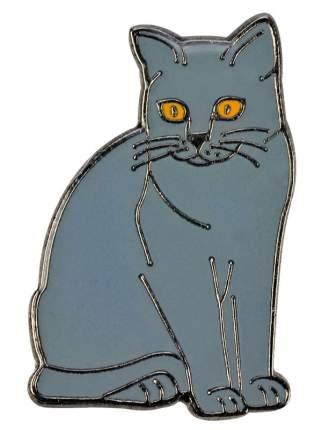 Значок металлический BLUE BUG Кошка Британская 15х23мм