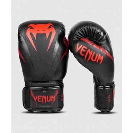 Боксерские перчатки Venum Impact черные/красные 14 унций