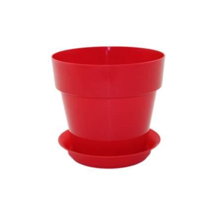 Горшок с поддоном Протея красный для фиалок и суккулентов, 0,7л