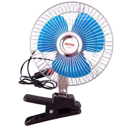 "Вентилятор 6"" 12V  SKYWAY на клипсе пластик"